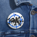 Load image into Gallery viewer, Poetry of JFM II Crosshairs Logo Custom Pin Buttons
