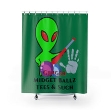 Load image into Gallery viewer, GMB Alien Logo #2 Shower Curtains