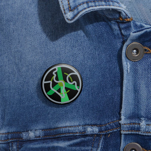 Green Peace Custom Pin Buttons