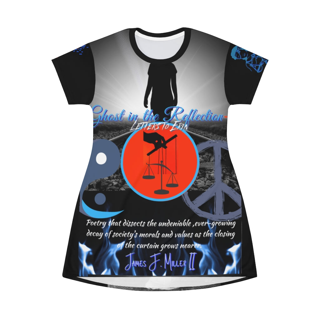 Ghost Cover All Over Print T-Shirt Dress