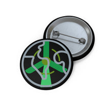Load image into Gallery viewer, Green Peace Custom Pin Buttons