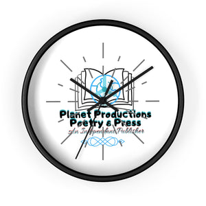 Planet Productions Poetry Wall clock
