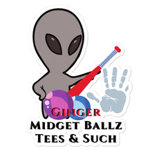 Load image into Gallery viewer, Ginger Midget Ballz Alien Junk stickers