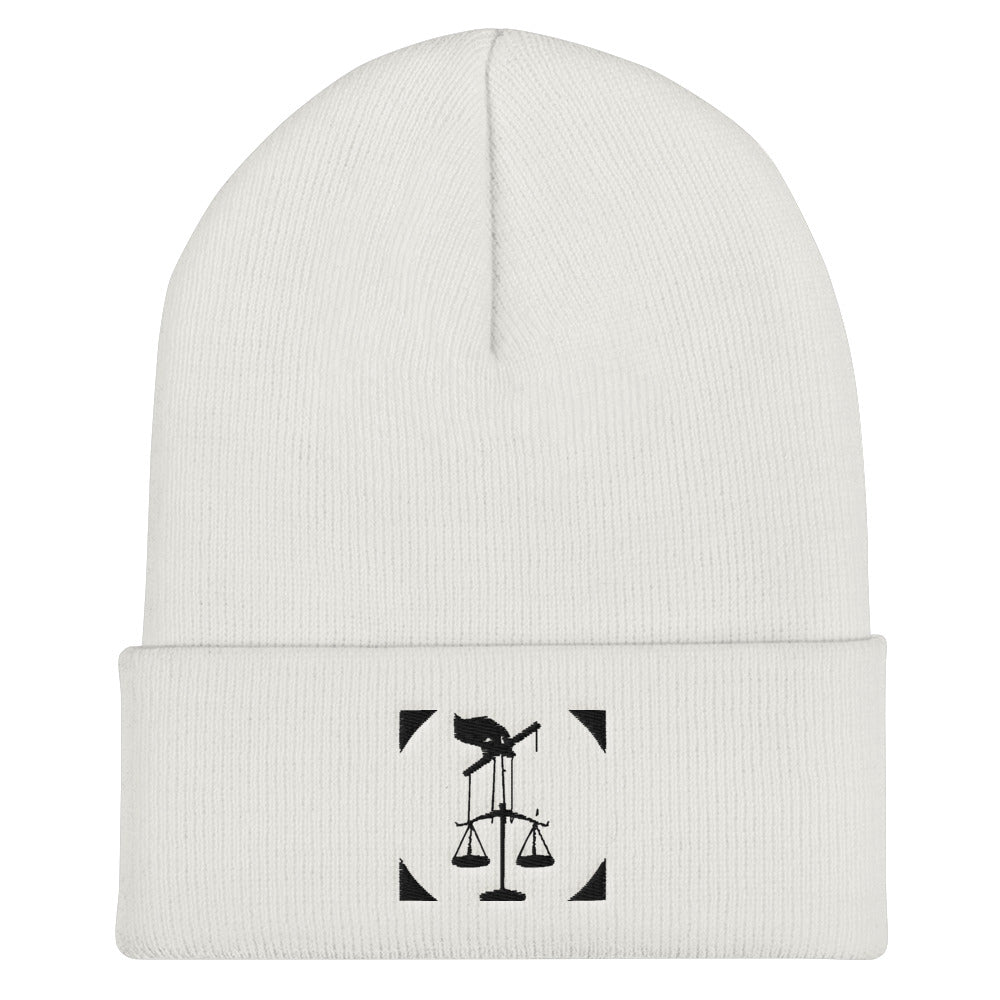 Puppeteer's Scales of Justice Cuffed Beanie