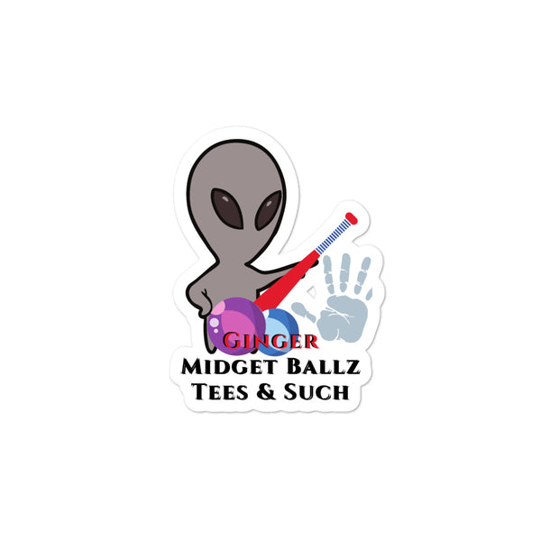 Ginger Midget Ballz Alien Junk stickers
