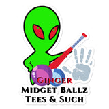 Ginger Midget Ballz Alien Junk #2 stickers