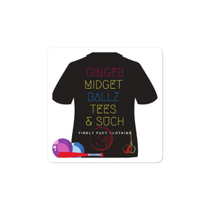 Ginger Midget Ballz T-Shirt Logo stickers