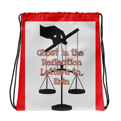 Puppeteer's Scales of Justice Artwork Drawstring bag