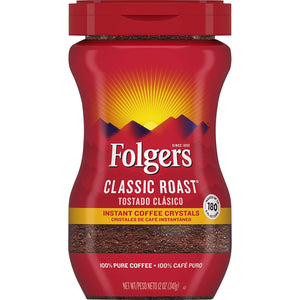 Folgers Instant Classic Roast Coffee Variety of Sizes