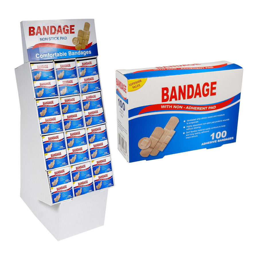 Bandage 100ct in Floor Display Case Pack 144