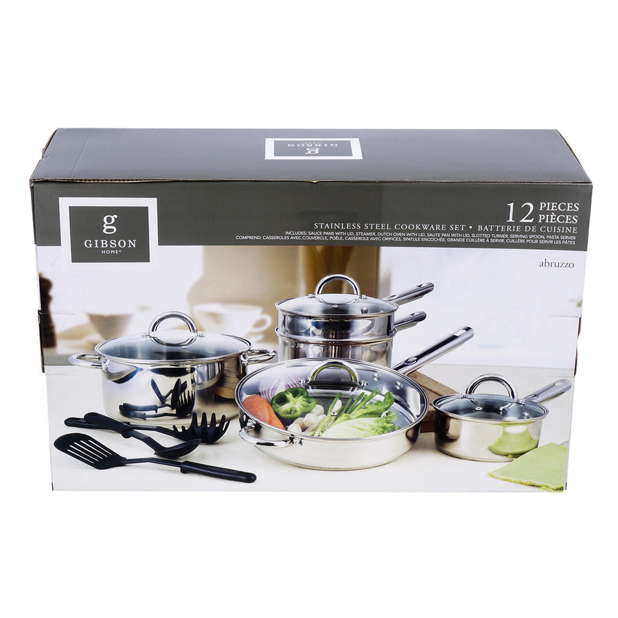12pc Abruzzo Stainless Steel Cookware Set
