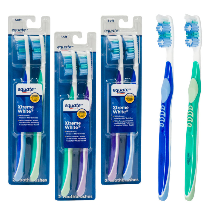Equate 2 Pack Equate Xtreme Toothbrush Variety of Sizes
