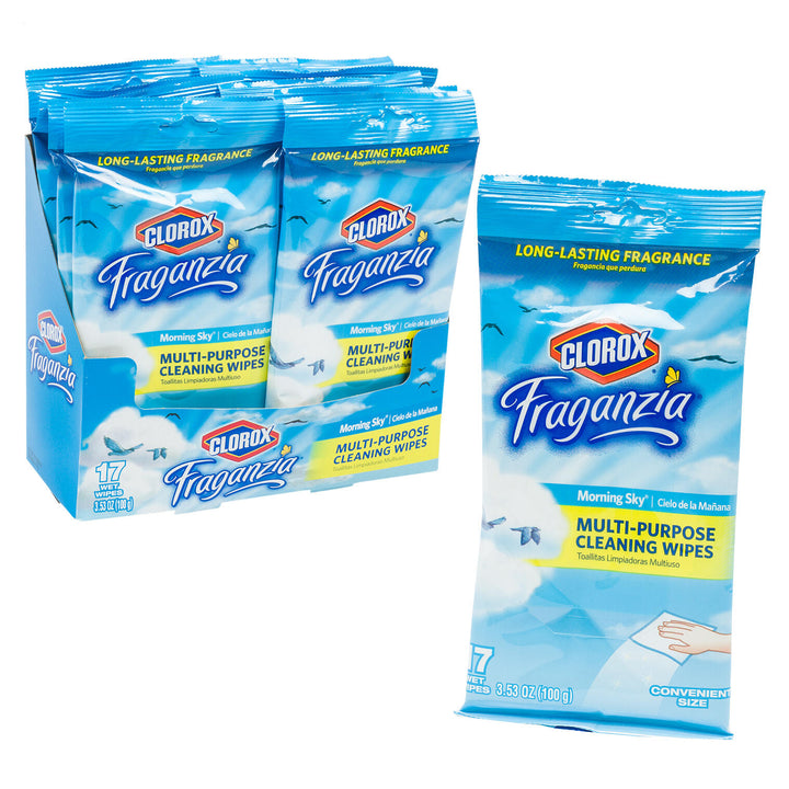 Clorox Fraganzia Morning Sky 17ct Cleaning Wipes