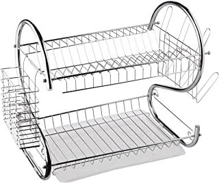Better Chef 16 & 22 Inch Chrome Plated S Shaped Rust Resistant 2 Tier Dishrack