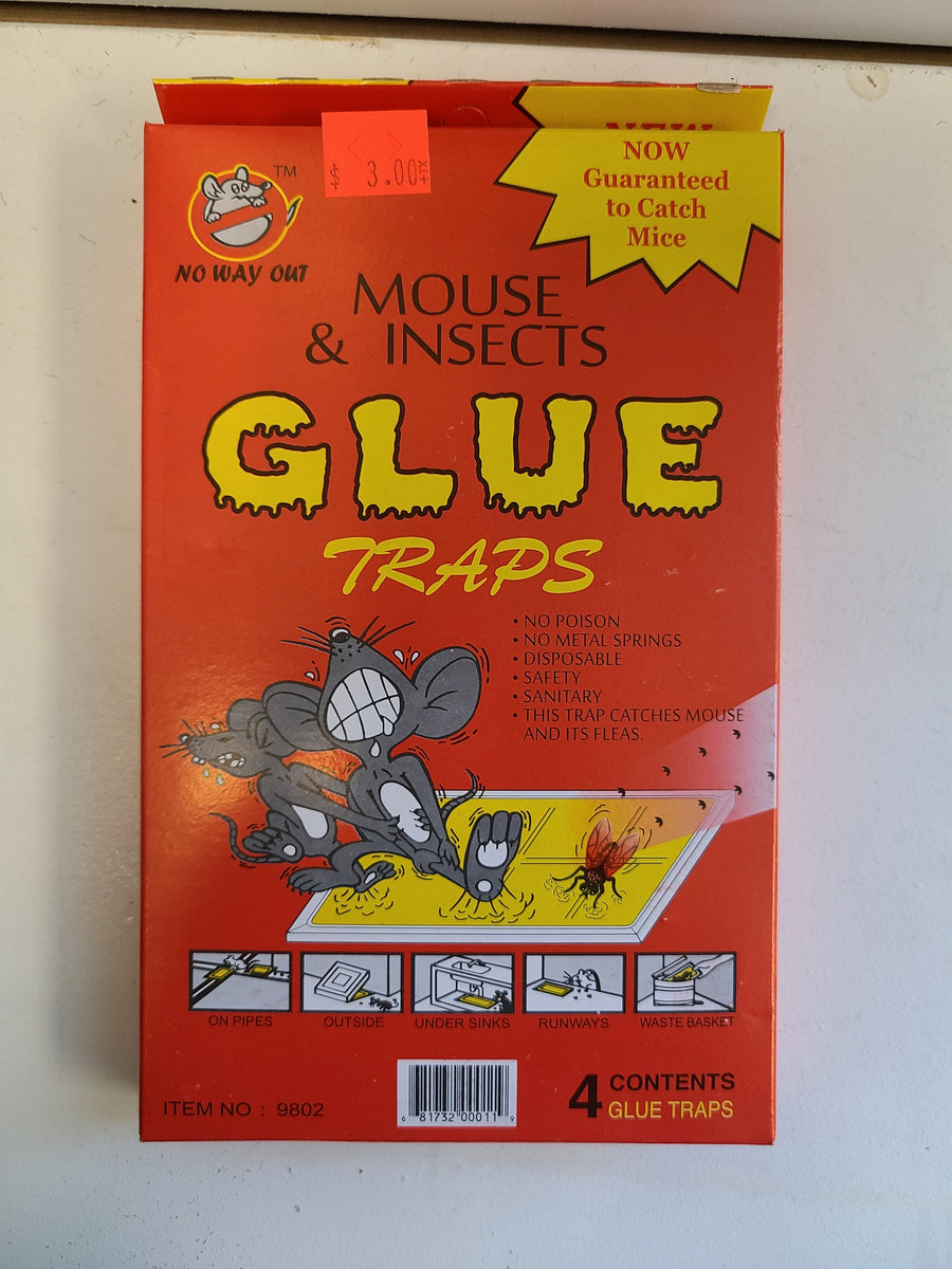 Mouse Glue Traps  set of 4 traps