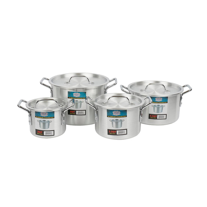 SAUCE POT,8pc2QT-8 QT ALUMINUM
