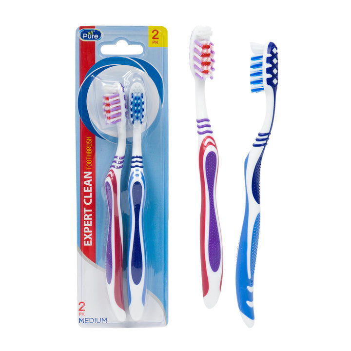All Pure-2 Pack Expert Toothbrush- Assorted Colors