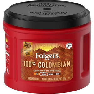 Folgers 100% Colombian Ground Café  Variety of Sizes