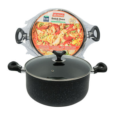 Dutch Oven W/ Glass Lid- 8.5qt- Black