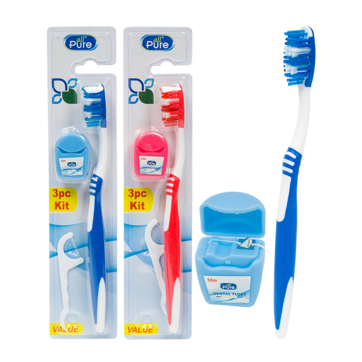 All Pure-3 Piece Plastic Dental Kit- 3 Assortments