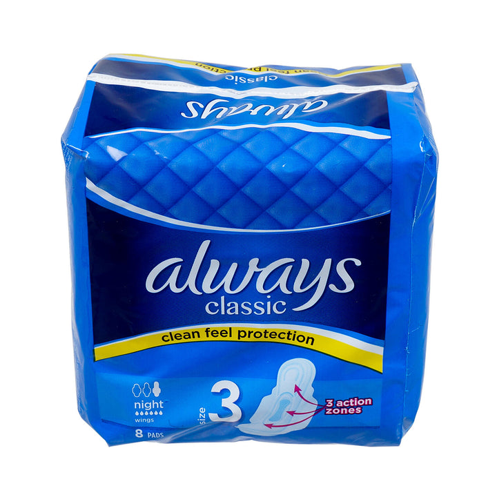 Always-8 ct Classic Night Pads Pack