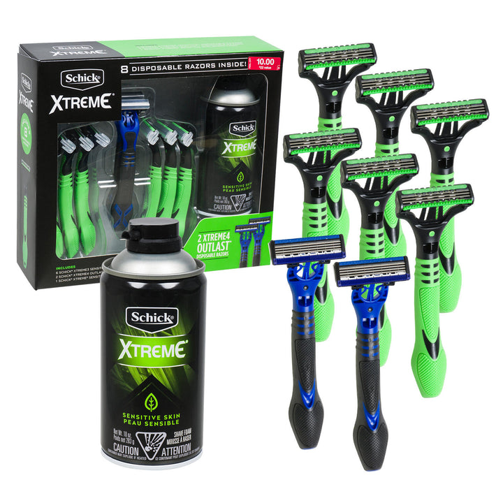 Xtreme-9 Piece Schick Cream and Razors Gift Set