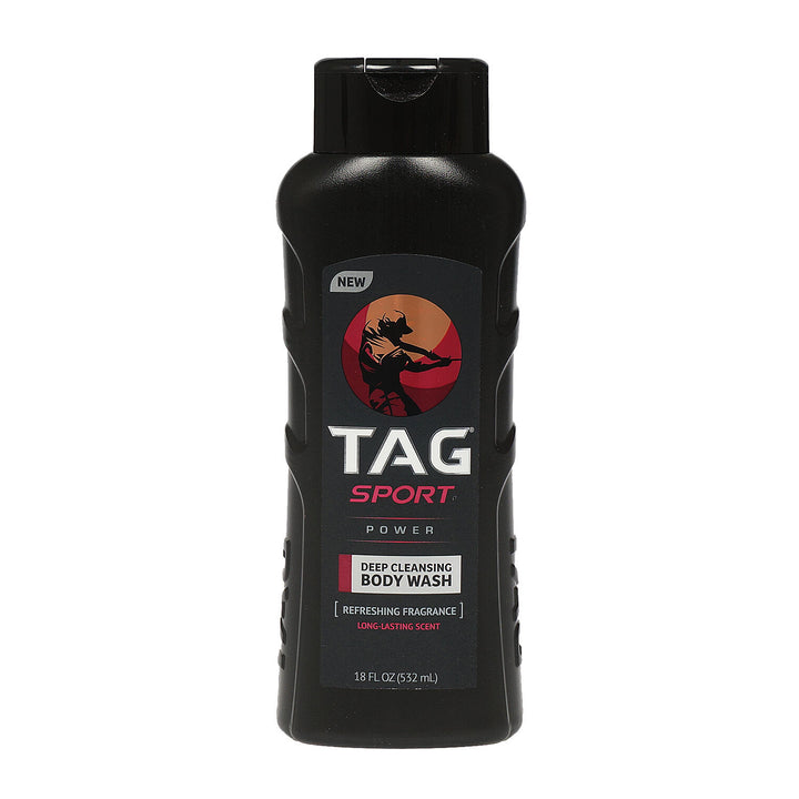 Tag-BODY WASH,18oz  SPORT POWER