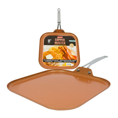 "11"" Copper Griddle Pan with Stainless Steel Handle"