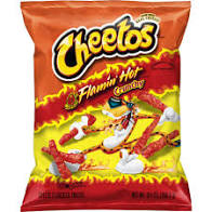 Cheetos Crunchy & Flamin Hot  Chips 2oz