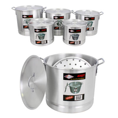 Aluminum Stock Pot with Steamer 5-pack Set