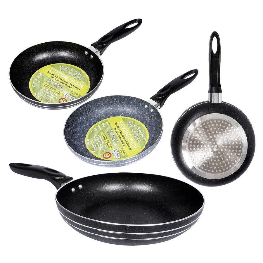 "Round Fry Pan W/ Handle- 7.75"""" D- Assorted"