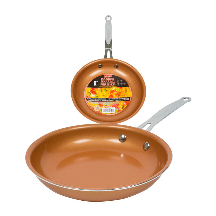 "8"" Copper Fry Pan with Stainless Steel Handle"