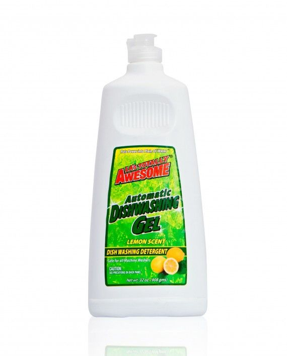 Awesome Automatic Dishwashing Gel Lemon Scent 32oz