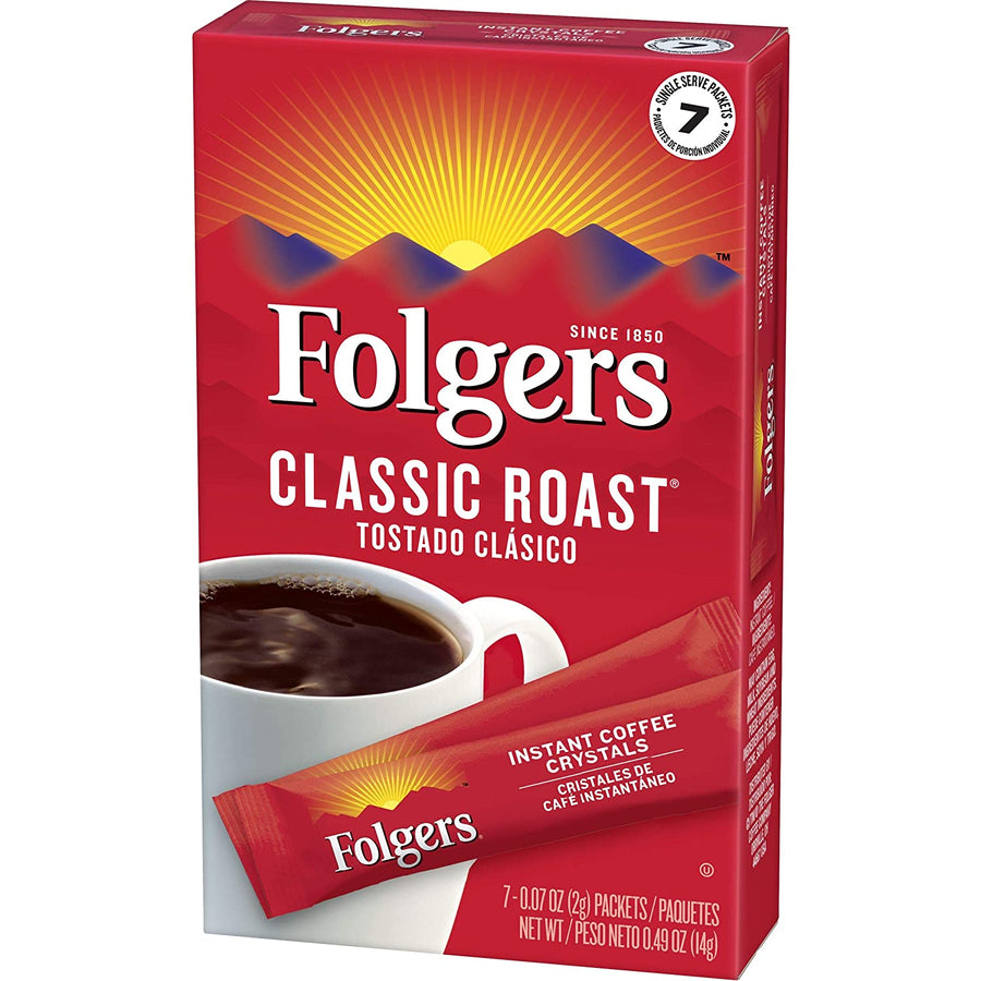 Folgers Instant Classic Roast Cafe Stick 7ct .07oz