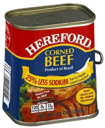 Hereford Corned Beef 25%Less Sodium
