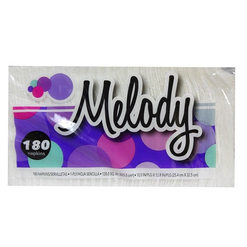 Melody Napkins 180ct-1 Ply