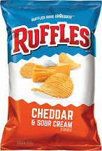 Ruffles Cheddar & Sour Cream 2 Oz