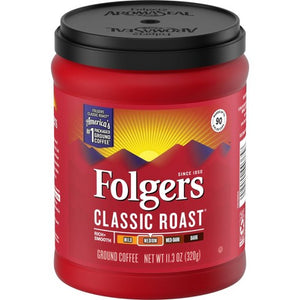 Folgers Classic Roast Ground Café Variety of Sizes