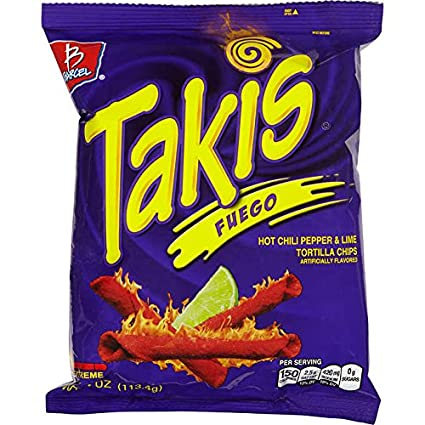 Takis Fuego Chips 1oz 2oz 4oz 9.9oz sizes available