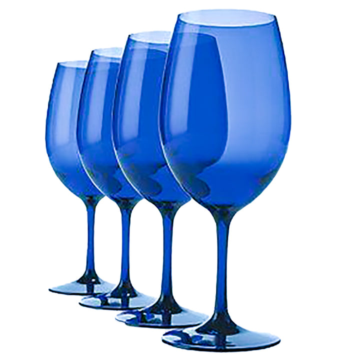 Blue Wine Glasses Set of 4 Package