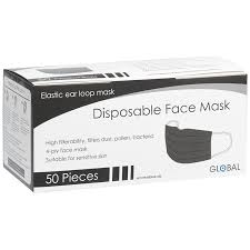 Black Disposal Face Mask