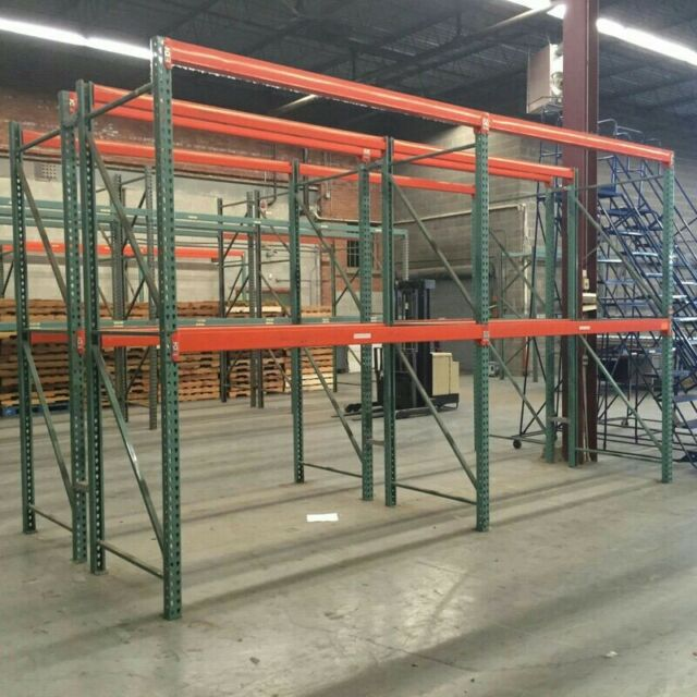 "Pallet Rack 12' X 42"" Upright Frame"