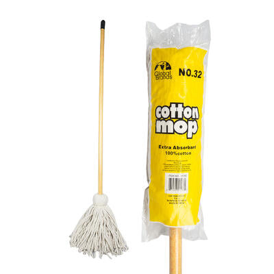 Mop #32 COTTON with WOOD HANDLE