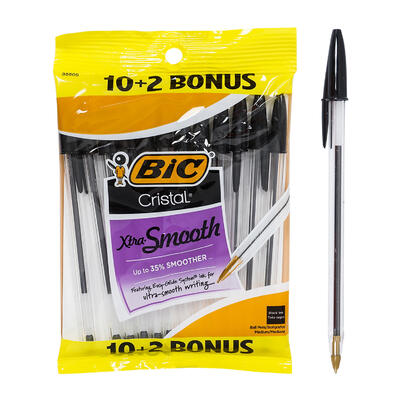 Bic 10 Pack + 2 Bonus Ball Point Pen - Blue
