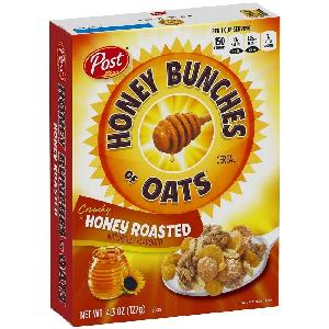 Cereal Honey Bunches Of Oats Honey Roasted, 4.3oz