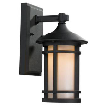 Decorative Outdoor Box Lantern, 9W LED Module, 120V, 3000 K, Black - LEDGeeks