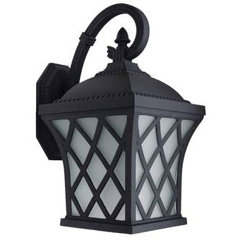 Decorative Outdoor Box Lantern, 9W LED Module, 120V, 3000 Kelvin, Photocell, Black - LEDGeeks
