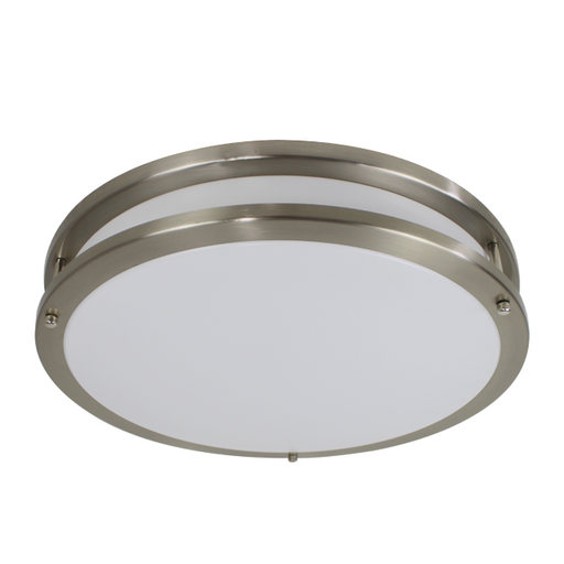 "LED Ringed Ceiling Fixture, 14"", 20W LED Module, 120V, 3000K - LEDGeeks"