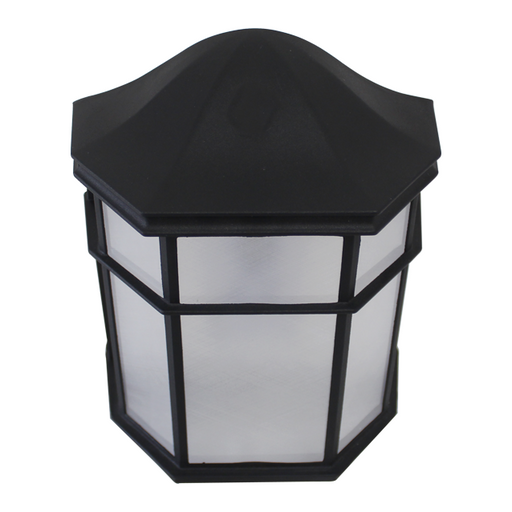 Decorative Outdoor Pocket Lantern, 9W LED Module, 120V, 3000K, Black - LEDGeeks