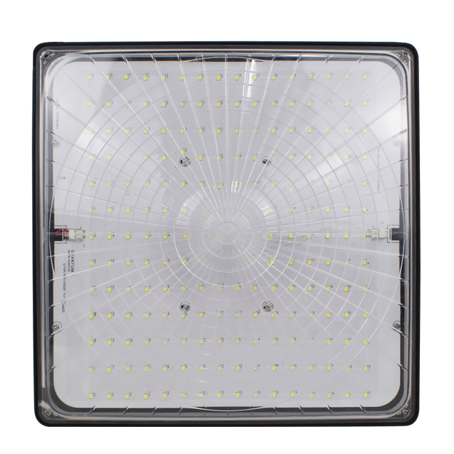 "LED Square Canopy, 12"", 40W LED Module, 120-277V, 5000K - LEDGeeks"